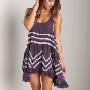 Free People Trapeze slip dress in purple